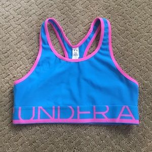 Girls under amour bra top size large  or 14